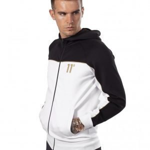 11 Degrees Colour Block Full Zip Poly Huppari Valkoinen
