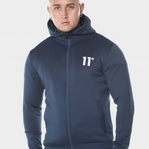 11 Degrees Core Full Zip Poly Hoodie Sininen
