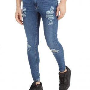 11 Degrees Ripped Denim Jeans Sininen