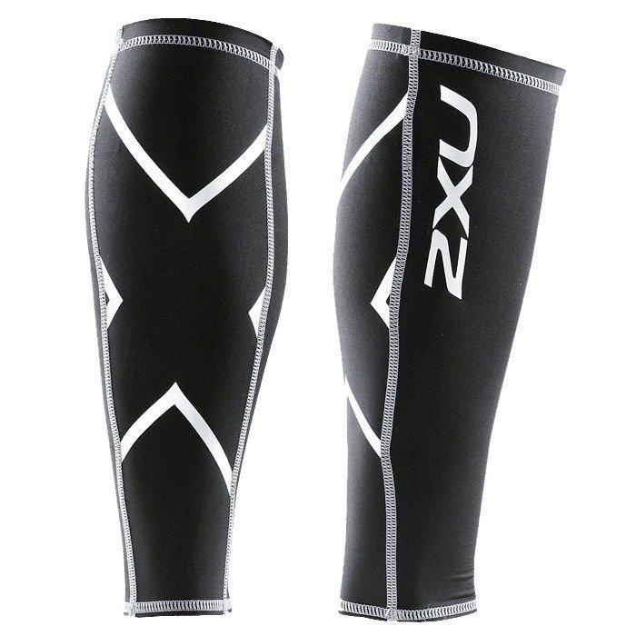 2XU Compressionession Calf Guard Black/silver logo L