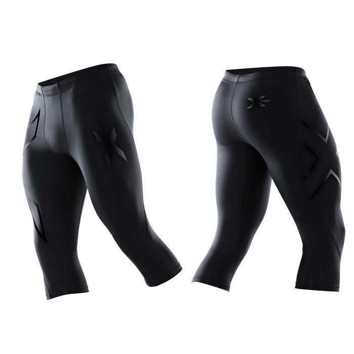 2XU Men's 3/4 Compression Tights black/black logo
