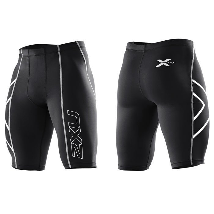 2XU Men's Compression Shorts Black/silver logo L