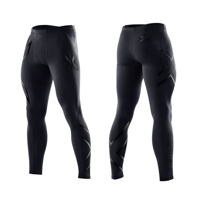 2XU Men's Compression Tights black/black logo S Tall