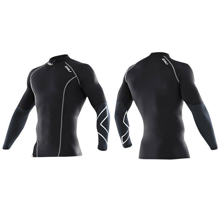 2XU Men's Elite Compression Longsleeve Top black/steel S