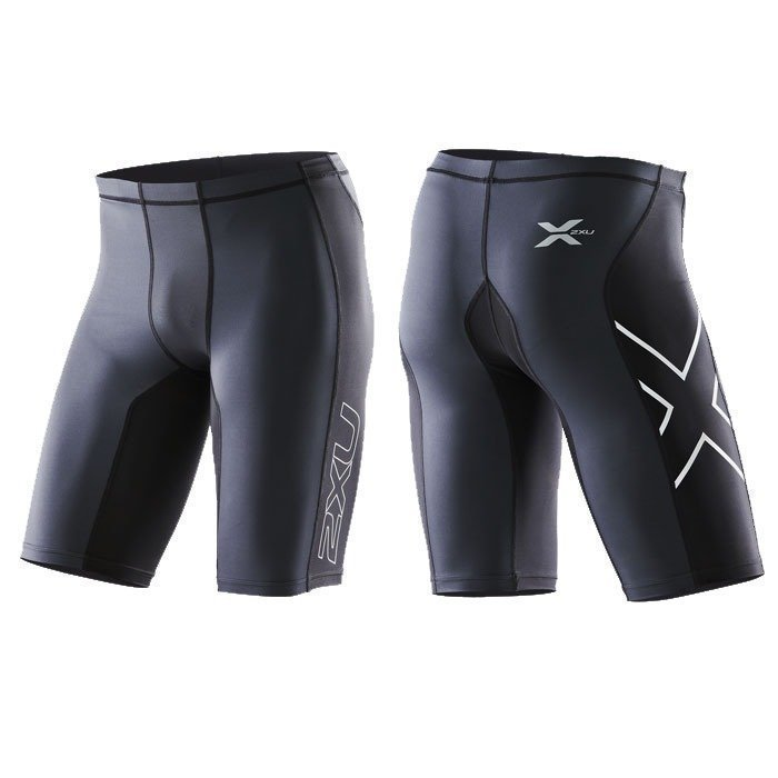 2XU Men's Elite Compression Shorts black/steel XL