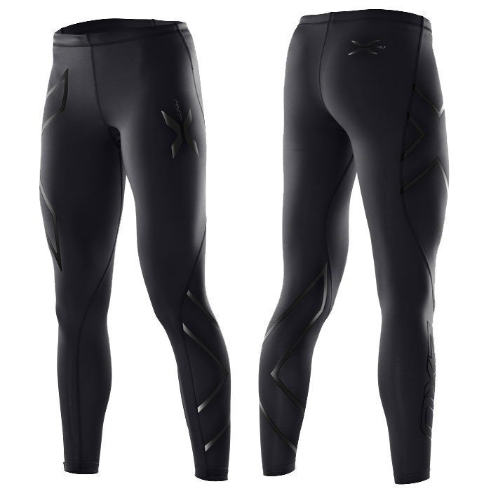 2XU Wmn's Compression Tights Black/Black logo S tall