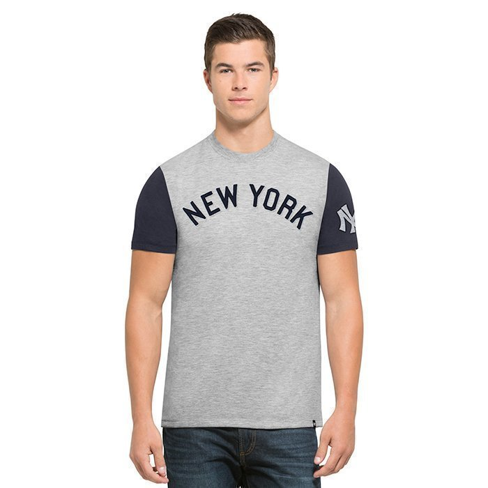 47 MLB Triple Up Tee New York Yankees Grey XX-Large
