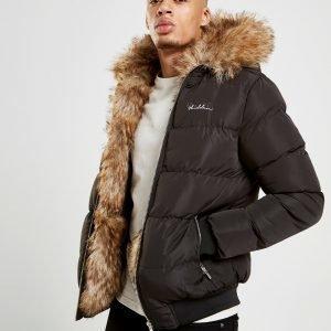 4bidden Rawlin Short Fur Puffer Takki Musta