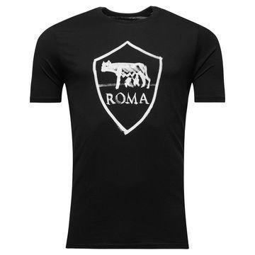 AS Roma T-paita Crest Musta Lapset