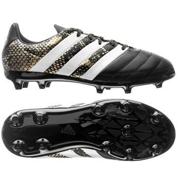 Adidas ACE 16.3 FG/AG Nahka Stellar Pack Musta/Valkoinen/Kulta Lapset
