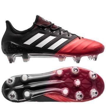 Adidas ACE 17.1 Nahka SG Red Limit Musta/Valkoinen/Punainen