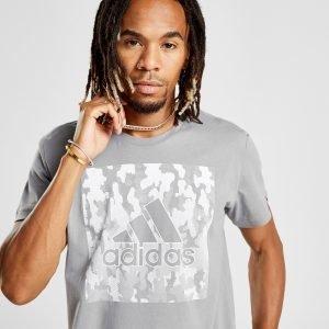 Adidas Badge Of Sport Camo T-Shirt Harmaa