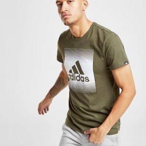 Adidas Box Gradient T-Paita Vihreä