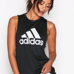 Adidas Boxy Logo Tank Treenitoppi Loose Fit Musta