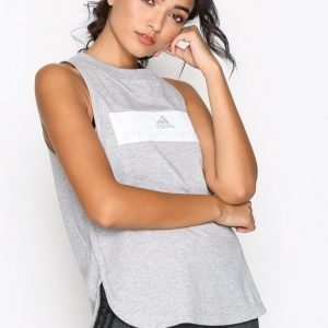 Adidas By Stella Mccartney Ess Logo Tank Treenitoppi Loose Fit Harmaa