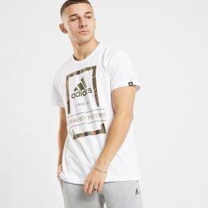 Adidas Camo Outline Box T-Paita Valkoinen