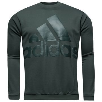 Adidas Collegepaita Heavy Terry Crew Vihreä