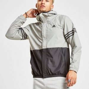 Adidas Colour Block Windbreaker Harmaa