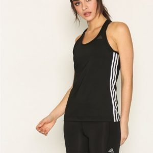 Adidas D2m Tank 3s Treenitoppi Tight Fit Musta