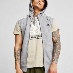 Adidas Essential Sleeveless Hoodie Harmaa