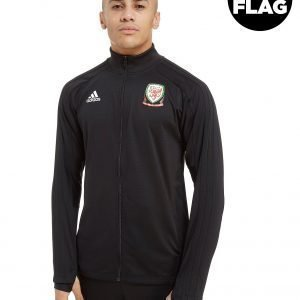 Adidas Fa Wales 2018/19 Full Zip Track Top Musta