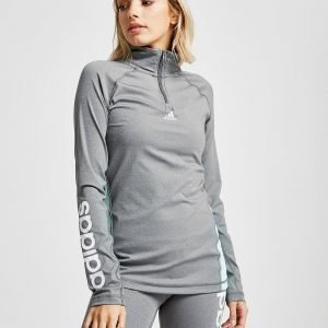 Adidas Linear 1/4 Zip Top Harmaa