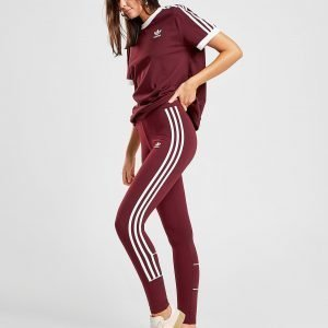 Adidas Originals 3-Striped Leggings Maroon / White