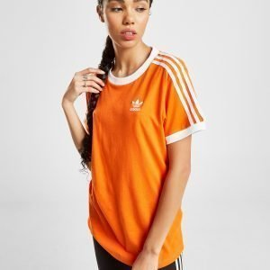 Adidas Originals 3-Stripes California T-Shirt Oranssi