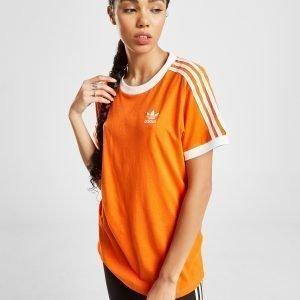 Adidas Originals 3-Stripes California T-Shirt Oranssi