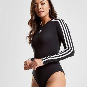 Adidas Originals 3-Stripes Long Sleeve Bodysuit Musta