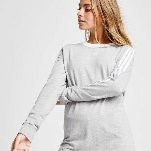 Adidas Originals 3-Stripes Long Sleeve California T-Paita Harmaa