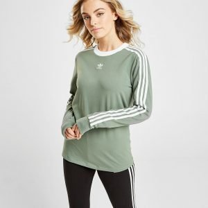 Adidas Originals 3-Stripes Long Sleeve California T-Paita Vihreä