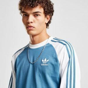 Adidas Originals 3-Stripes Long Sleeve T-Shirt Sininen