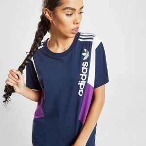 Adidas Originals 90'S Colour Block Boyfriend T-Shirt Sininen