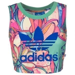 Adidas Originals Bananas Cropped Trefoil Tank Top Toppi