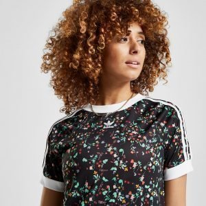 Adidas Originals Floral All Over Print T-Shirt Musta