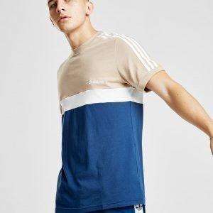 Adidas Originals Itasca Colour Block T-Shirt Sininen