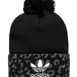 Adidas Originals Leopard Pom Beanie Musta