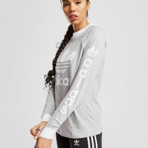Adidas Originals Linear Long Sleeve T-Shirt Harmaa