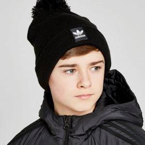 Adidas Originals Logo Pom Beanie Musta