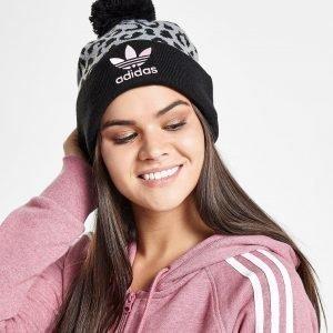 Adidas Originals Pom Leopard Beanie Harmaa