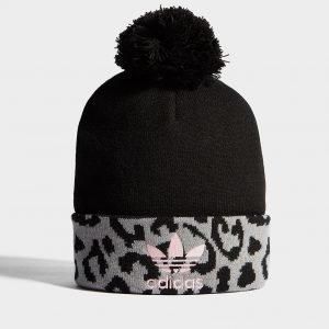 Adidas Originals Pom Leopard Beanie Musta