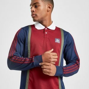 Adidas Originals Skateboarding Rugby Top Maroon / Navy