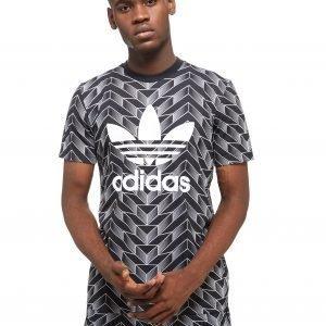 Adidas Originals Soccer Trefoil Short Sleeve T-Shirt Musta
