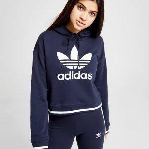 Adidas Originals Stripe Crop Overhead Huppari Laivastonsininen
