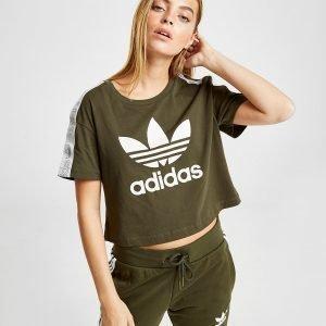 Adidas Originals Tape Crop T-Shirt Vihreä