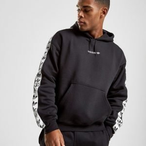 Adidas Originals Tape Fleece Overhead Huppari Musta