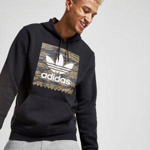 Adidas Originals Tiger Camo Overhead Hoodie Musta