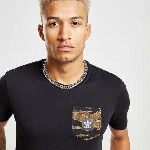 Adidas Originals Tiger Camo Pocket T-Shirt Musta