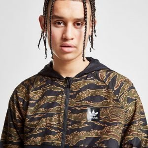 Adidas Originals Tiger Camouflage Windbreaker Jacket Musta